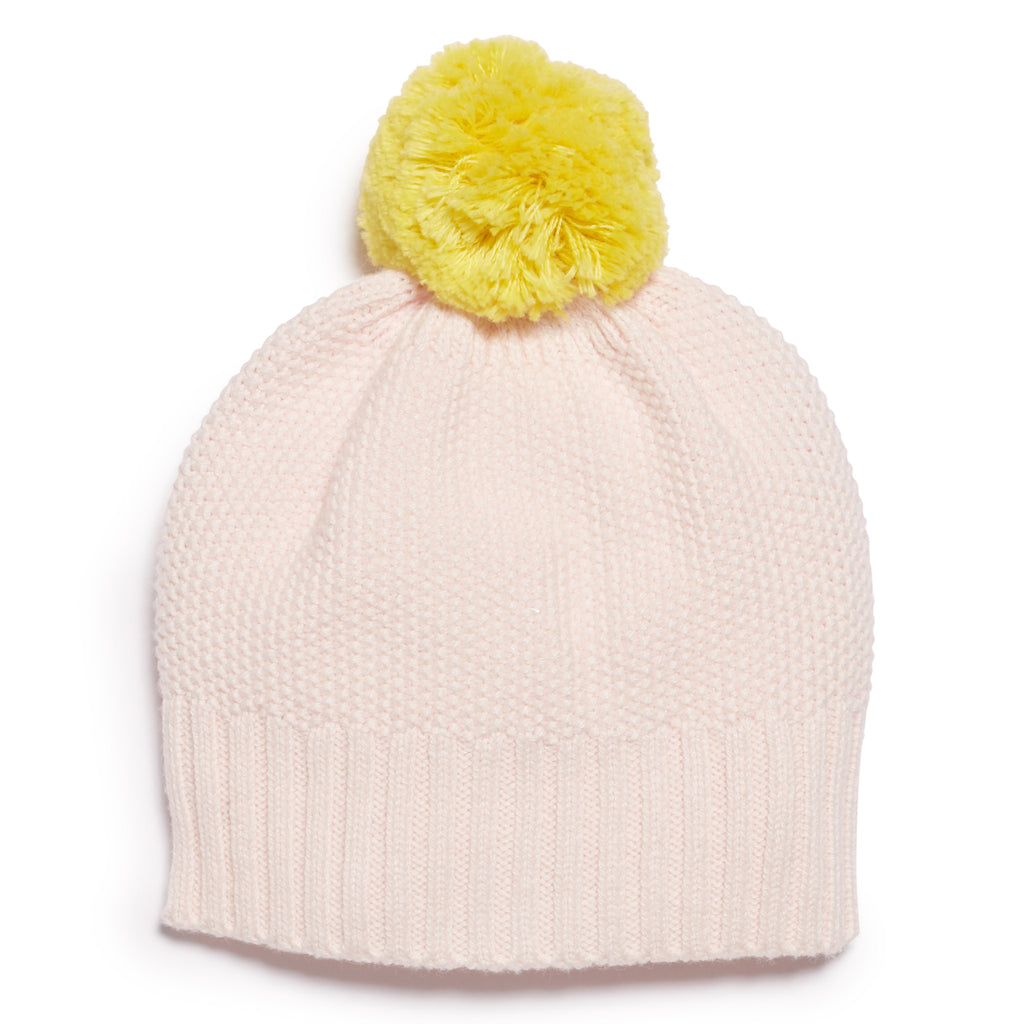 MARSHMELLOW AND PINEAPPLE KNITTED HAT
