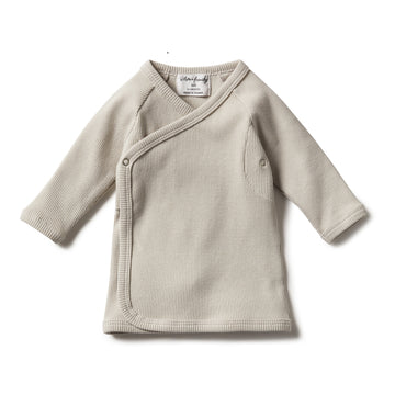 DUSTY EGGSHELL RIB KIMONO CARDIGAN - Wilson and Frenchy