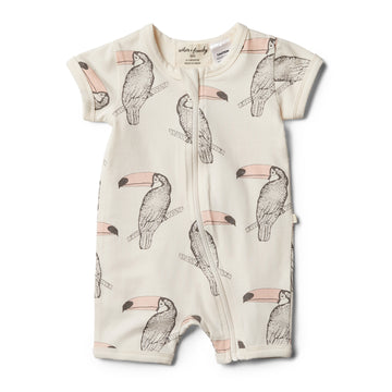 Organic Tutu Toucan Boyleg Zipsuit - Wilson and Frenchy