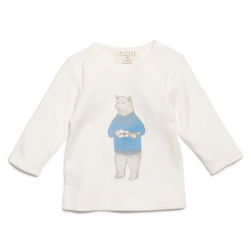 BLUE HELLO BEAR LONG SLEEVE TOP - Wilson and Frenchy