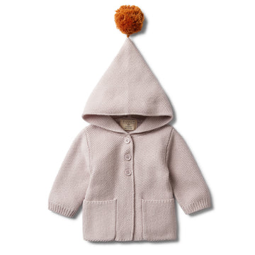 FAWN HOODED JACKET WITH POM POM - Wilson and Frenchy