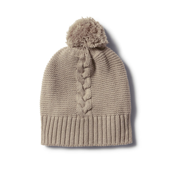 BIRCH CABLE KNIT HAT WITH POM POM - Wilson and Frenchy