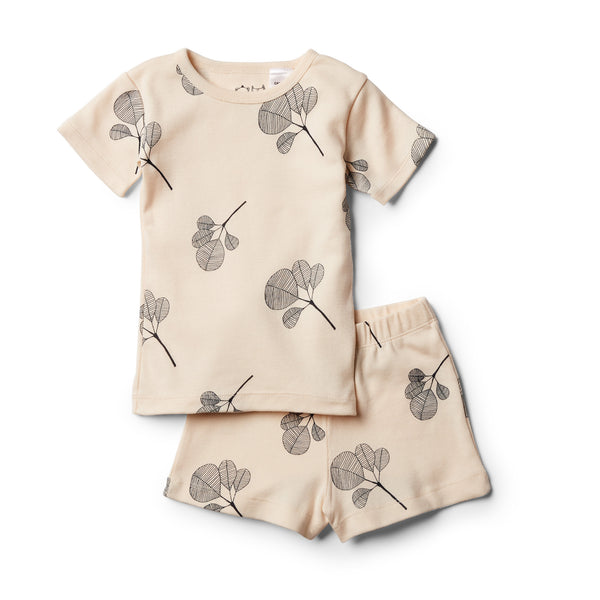 Organic Fan Leaf Short Sleeve Pyjama Set - Wilson and Frenchy