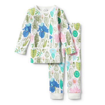 FLORA LONG SLEEVE PYJAMA SET-KIDS SLEEPWEAR-Wilson and Frenchy