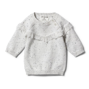 GREY SPECKLE KNITTED JUMPER - Wilson and Frenchy