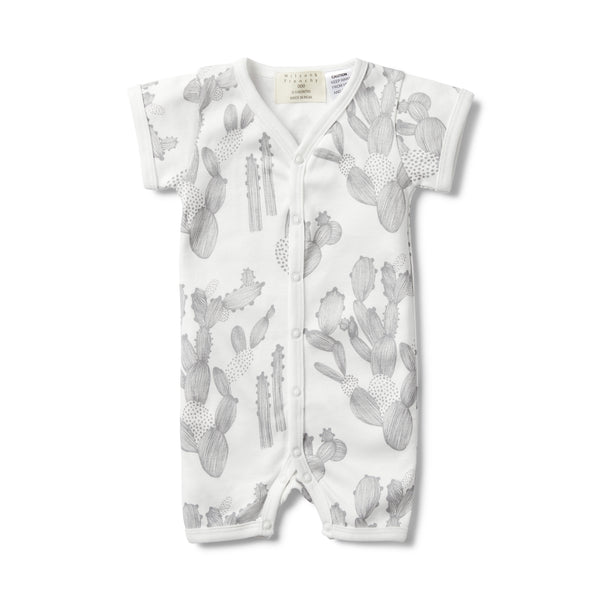 IM STUCK ON YOU SHORT SLEEVE OPEN FRONT GROWSUIT - Wilson and Frenchy