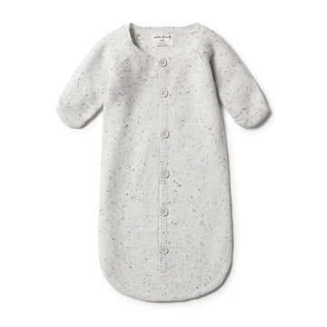 GREY SPECKLE KNITTED COCOON SLEEPER - Wilson and Frenchy