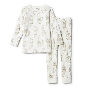 ORGANIC BABY SLOTH PYJAMA SET - Wilson and Frenchy