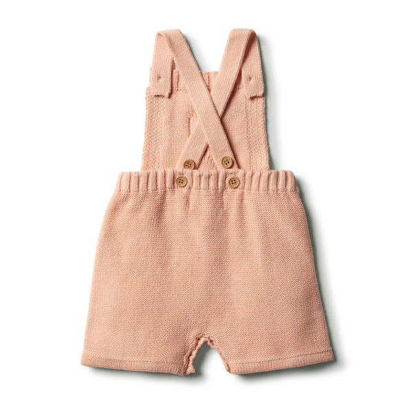 Tropical Peach Knitted Overall With Baubles - Wilson and Frenchy