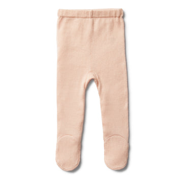 PEACHY PINK KNITTED LEGGING WITH FEET - Wilson and Frenchy
