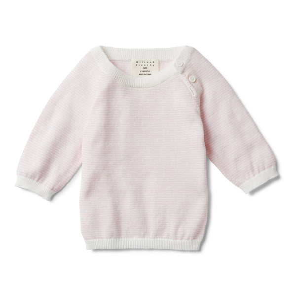 PRETTY PINK STRIPE KNITTED JUMPER