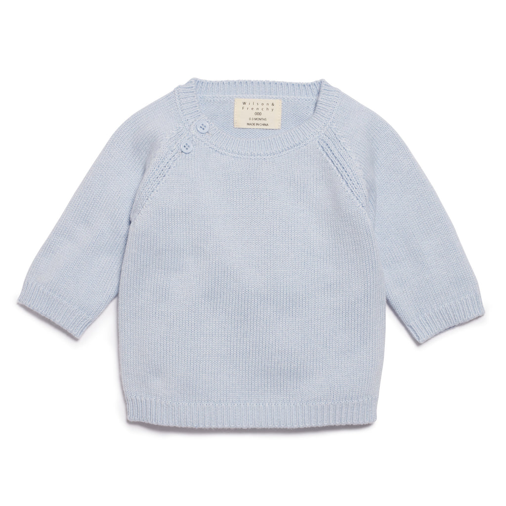 CASHMERE BLUE KNITTED JUMPER