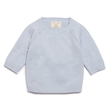 CASHMERE BLUE KNITTED JUMPER - Wilson and Frenchy