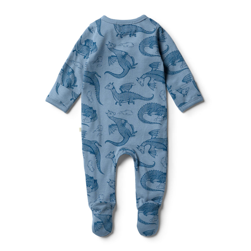 Organic Little Dragon Zipsuit - Wilson and Frenchy