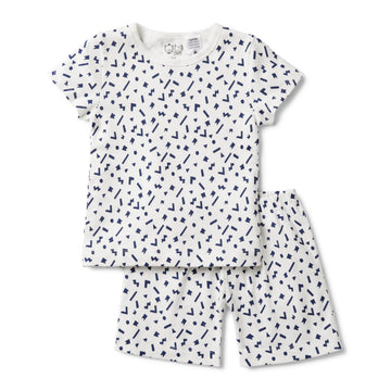 GEO PLAY SHORT SLEEVE PYJAMA SET - Wilson and Frenchy