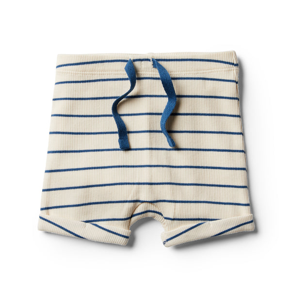 Organic Deep Blue Stripe Short - Wilson and Frenchy
