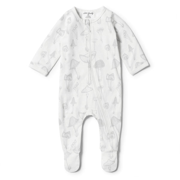 ORGANIC WILD MUSHROOM ZIPSUIT - Wilson and Frenchy