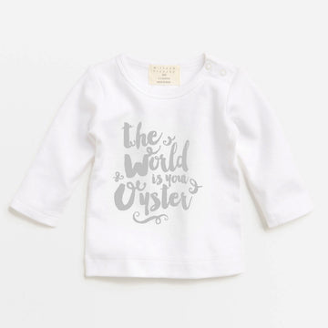 THE WORLD IS YOUR OYSTER TOP-LONG SLEEVE TOP-Wilson and Frenchy