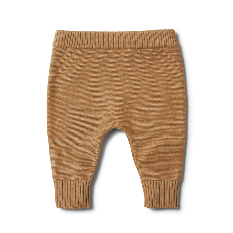 CARAMEL KNITTED LEGGING - Wilson and Frenchy
