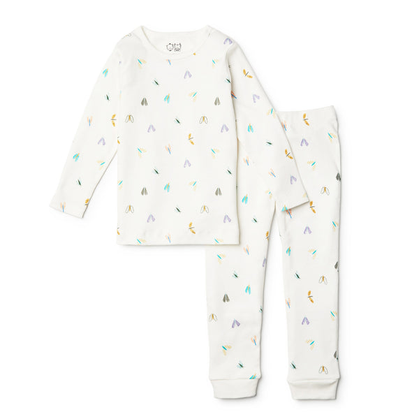 ORGANIC FLITTER FLUTTER LONG SLEEVE PYJAMA SET - Wilson and Frenchy