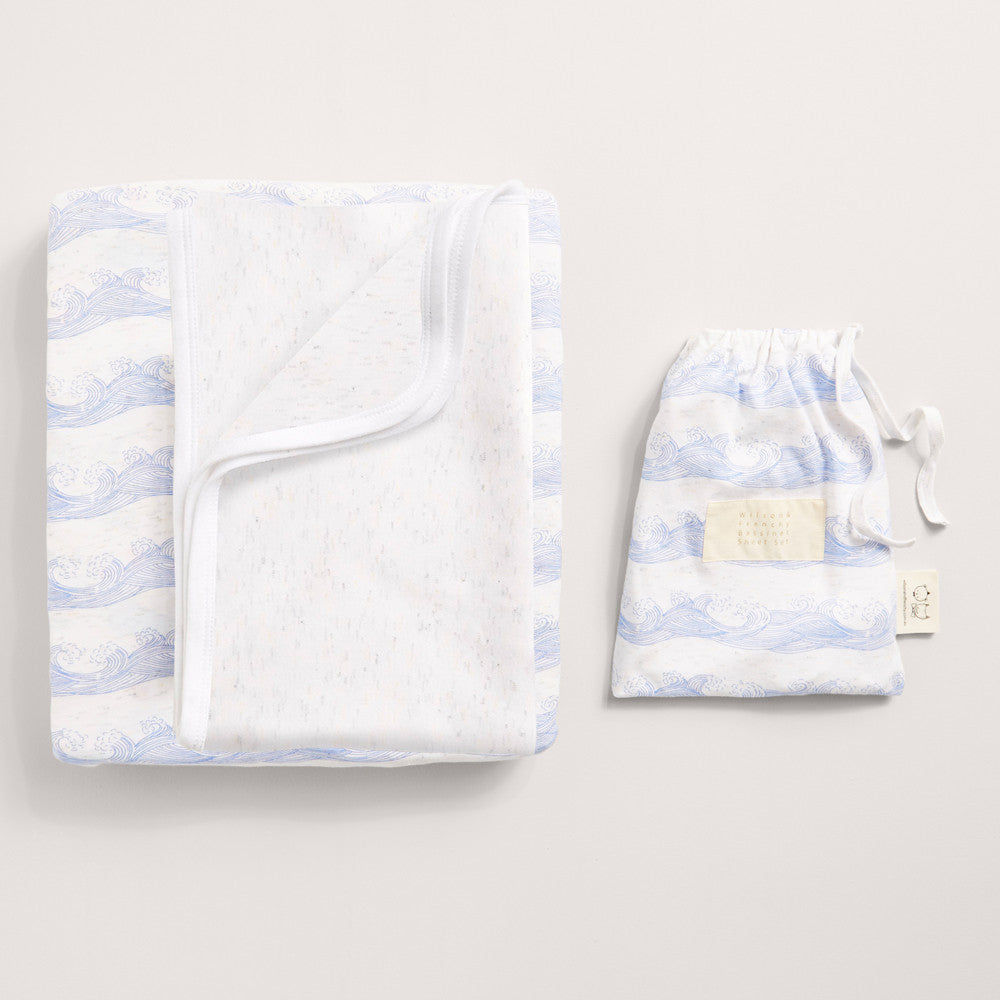 Rolling tides Bassinet sheet set