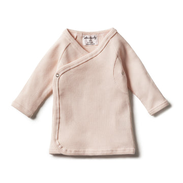 DUSTY PINK OYSTER RIB KIMONO CARDIGAN - Wilson and Frenchy