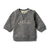 Grey Speckle Sweat Top - Wilson and Frenchy