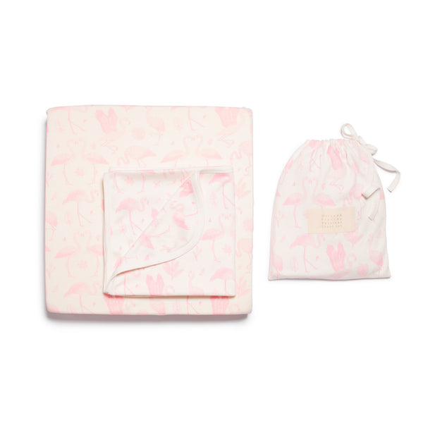 FLAMINGO BASSINET SHEET SET