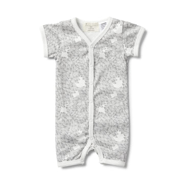 CORAL GARDEN SHORT SLEEVE OPEN FRONT GROWSUIT-GROWSUIT-Wilson and Frenchy