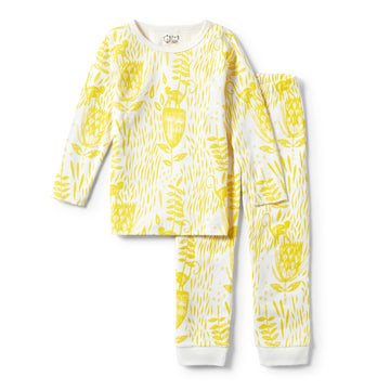 MELLOW YELLOW LONG SLEEVE PYJAMA SET-KIDS SLEEPWEAR-Wilson and Frenchy