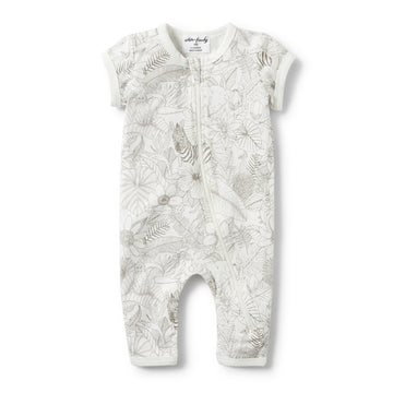 PEEKABOO SHORT SLEEVE ZIPSUIT