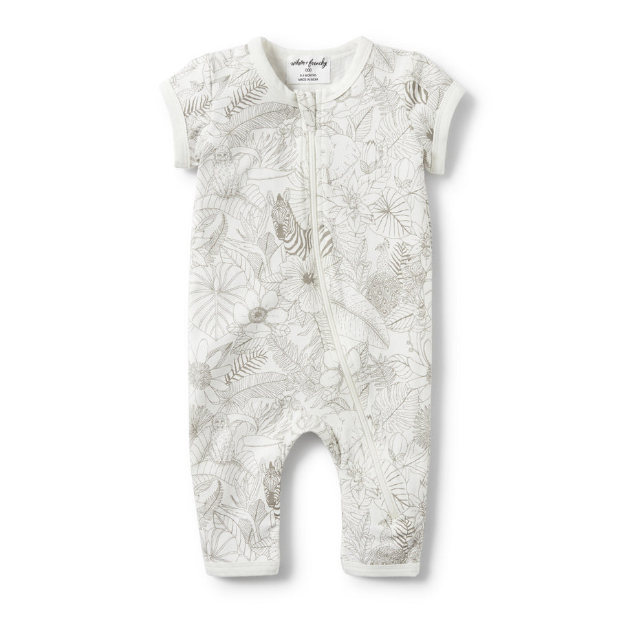 PEEKABOO SHORT SLEEVE ZIPSUIT-Wilson and Frenchy