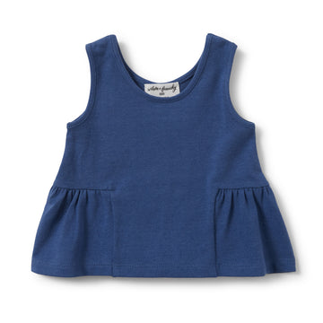 TRUE NAVY PEPLUM TANK-Wilson and Frenchy