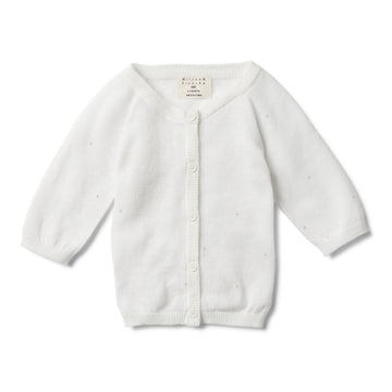 SILVER MOON DROP KNITTED CARDIGAN - Wilson and Frenchy