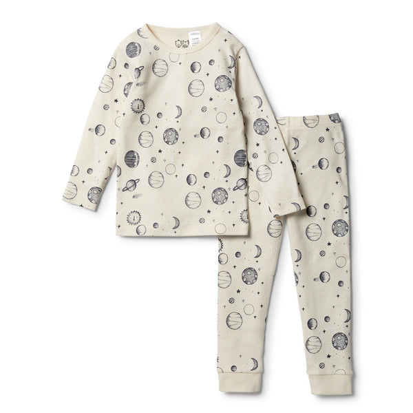 Organic Star Gazing L/S Pyjama Set - Wilson and Frenchy