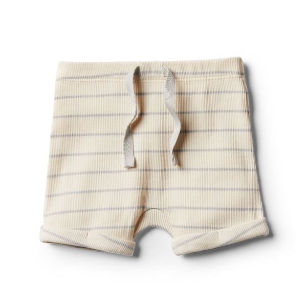 Organic Glacier Grey Stripe Short - Wilson and Frenchy