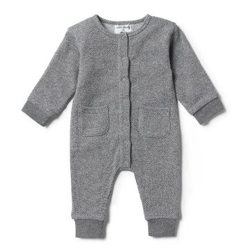 DARK GREY TERRY GROWSUIT - Wilson and Frenchy