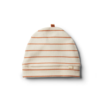 Organic Toasted Nut Stripe Beanie