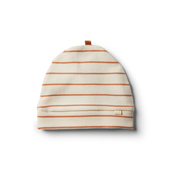 Organic Toasted Nut Stripe Beanie - Wilson and Frenchy