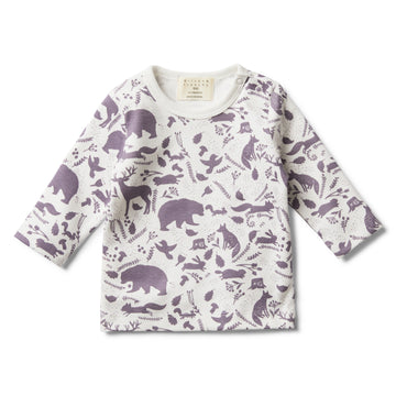 GIRLS WILD WOODS LONG SLEEVE TOP-LONG SLEEVE TOP-Wilson and Frenchy