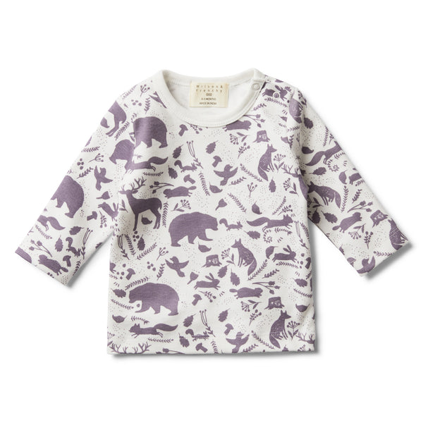 GIRLS WILD WOODS LONG SLEEVE TOP - Wilson and Frenchy