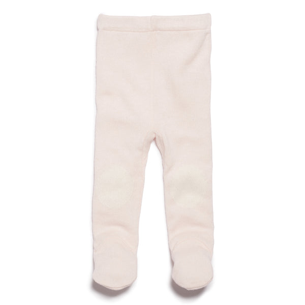 MARSHMELLOW KNITTED LEGGING WITH FEET