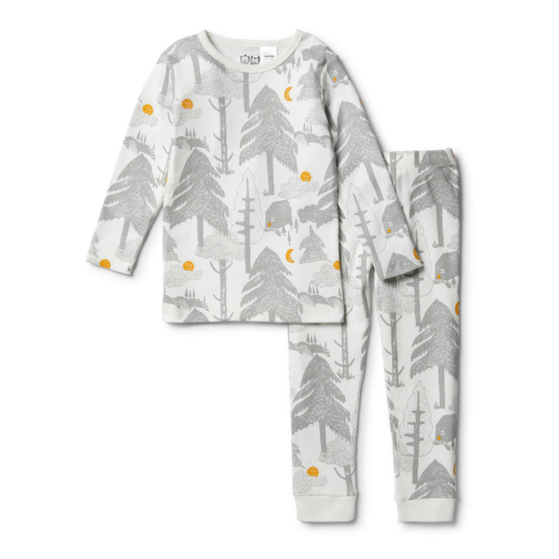Organic Little Wander L/S Pyjama Set - Wilson and Frenchy
