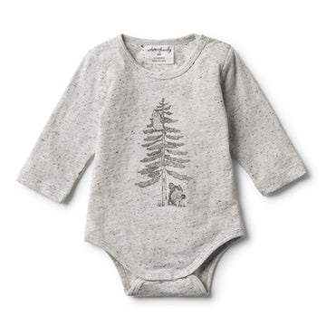 HELLO FOREST LONG SLEEVE BODYSUIT - Wilson and Frenchy