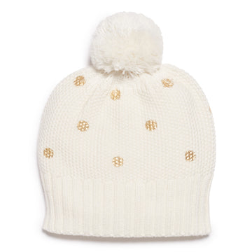 LITTLE POLKA DOT KNITTED HAT - Wilson and Frenchy