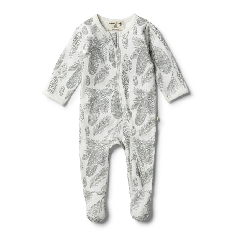 Organic Little Spruce Zipsuit - Wilson and Frenchy