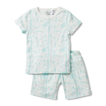 BLUE ADVENTURE AWAITS SHORT SLEEVE PYJAMA SET - Wilson and Frenchy