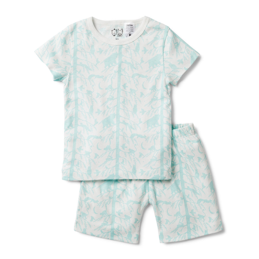 BLUE ADVENTURE AWAITS SHORT SLEEVE PYJAMA SET-KIDS SLEEPWEAR-Wilson and Frenchy