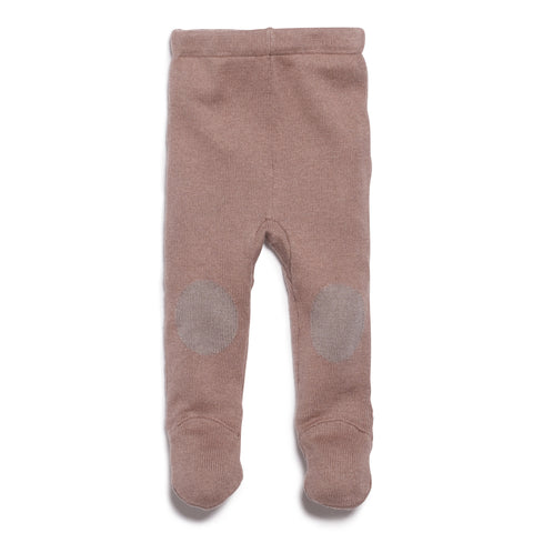 WOOD KNITTED LEGGING WITH FEET