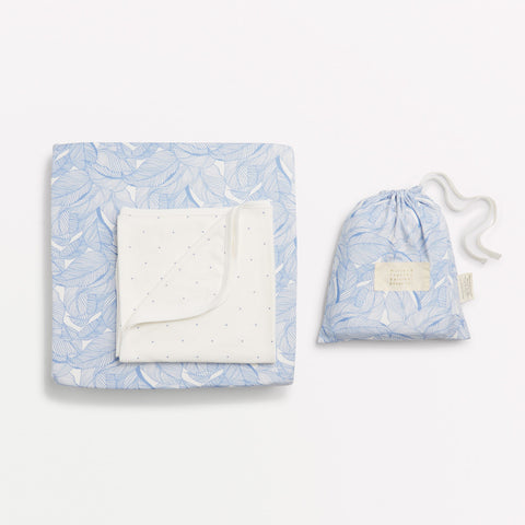 BLUE INTO THE JUNGLE BASSINET SHEET SET - Wilson and Frenchy